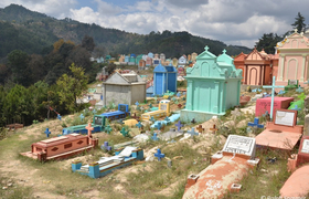 Friedhof Chichicastenango in Guatemala