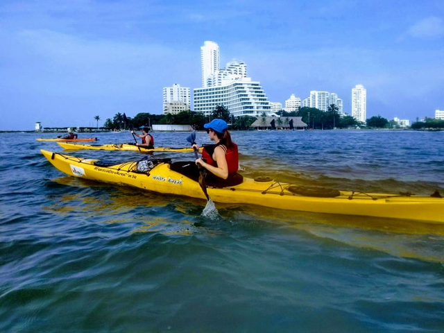 Kayaking vor Cartagena